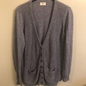 Madewell Wallace blue cardigan sweater size medium